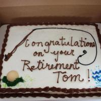 Congratulations on your retirement Tom cake